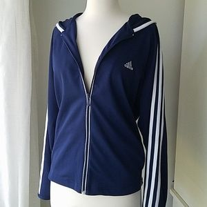 Adidas track jacket with hoodie